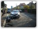 ULTIMA ORĂ � Doi răniţi �ntr�un accident, la intersecţia străzilor Octavian Goga şi Mihail Sebastian – GALERIE FOTO
