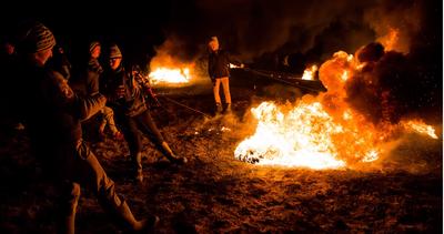 Satele din M?rginimea Sibiului au luat foc, în duminica L?satului Secului