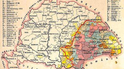 Harta Ungariei şi Transilvania până la Marea Unire    © cersipamantromanesc.wordpress.com
