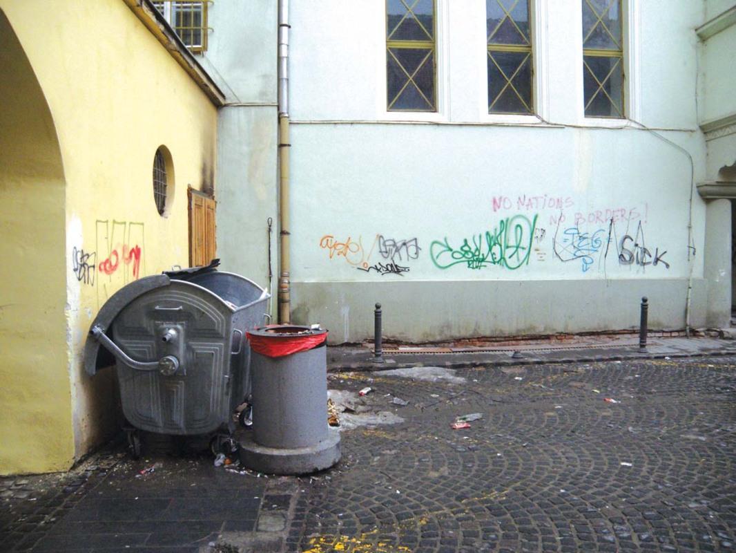 Diferenţa dintre Sibiul curat şi cel murdar. Câţiva metri