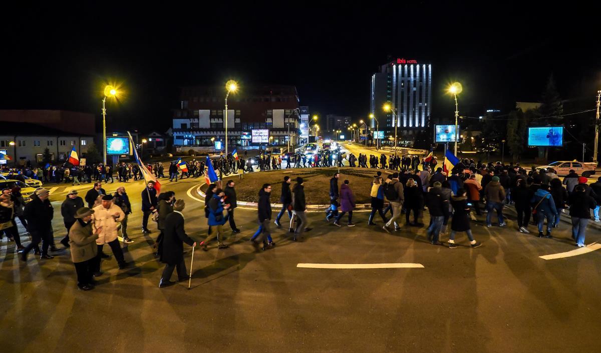 Protestele sibiene de duminică, faza pe amuzament