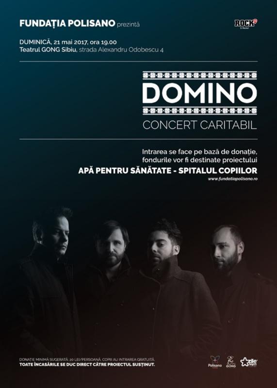 Trupa DOMINO concertează în sprijinul proiectului