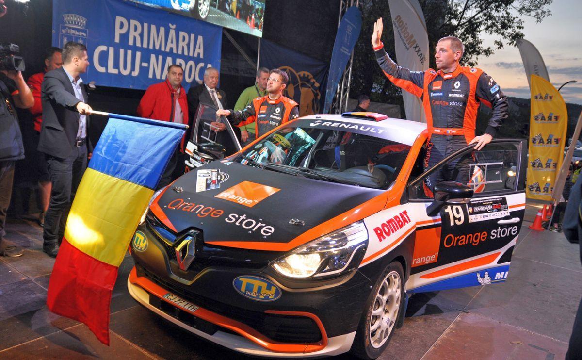 Podium pentru sibianul Bogdan Iancu la Cluj, în Tour European Rally
