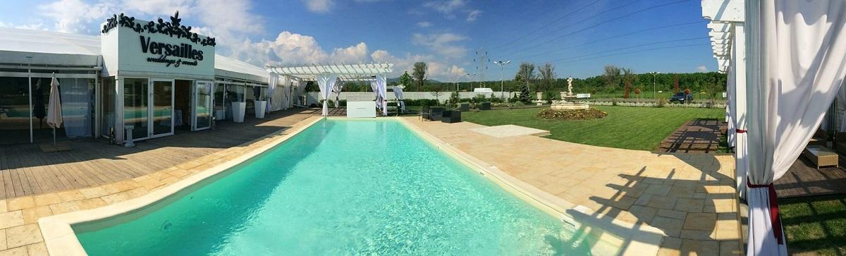 Piscina Versailles - petreceri pentru copii, onomastică sau cununie, piscină încălzită, loc de joacă, tenis sau volei