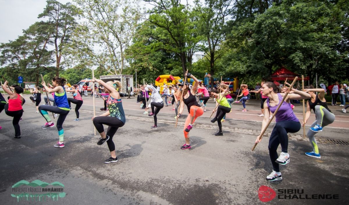 Sibiu Challenge 2017, cu 20 de zone sportive. Mii de oameni provocaţi la mişcare, în Parcul Sub Arini
