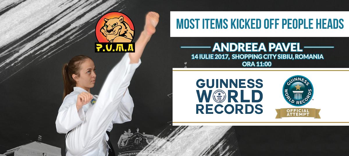 Andreea Pavel, la 60 de lovituri de picior de... Cartea Recordurilor! CADEEEEEE!
