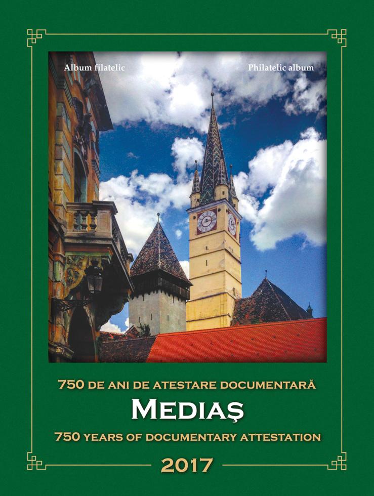 Serie aniversară lansată de Romfilatelia dedicată atestării documentare a Mediașului