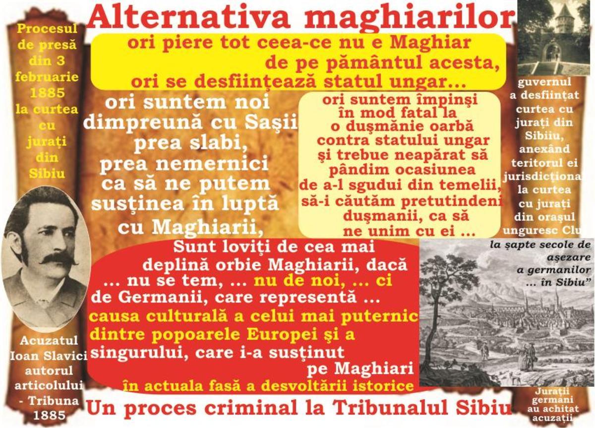 2017-Anul tribuniştilor memorandişti (XL): Slavici judecat ... pentru doi criminali germani! - Desfiinţarea curţii cu juraţi din Sibiu ... în secolul luminilor şi al toleranţei