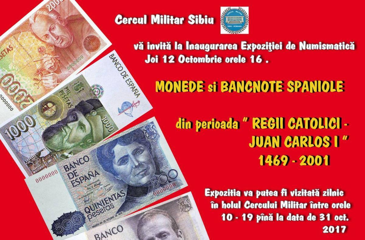 Expoziţie numismatică spaniolă la Cercul Militar