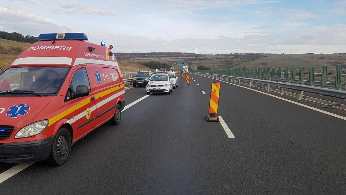 Un sibian a făcut infarct și a murit la volan, în timp ce conducea pe A1, în zona Apoldu