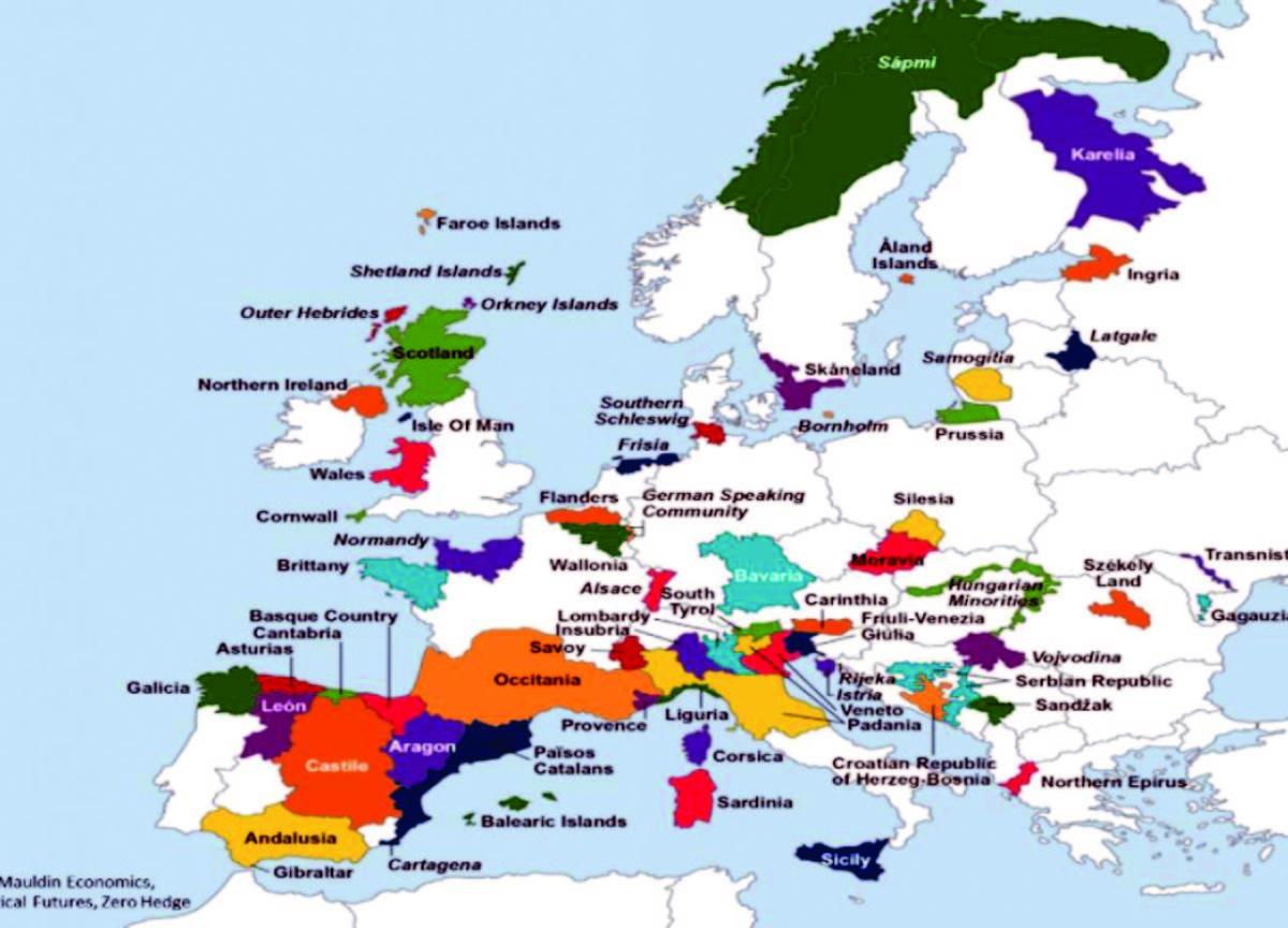 Cum Ar Arăta Noua Hartă A Europei Dacă Toate Regiunile Care Luptă