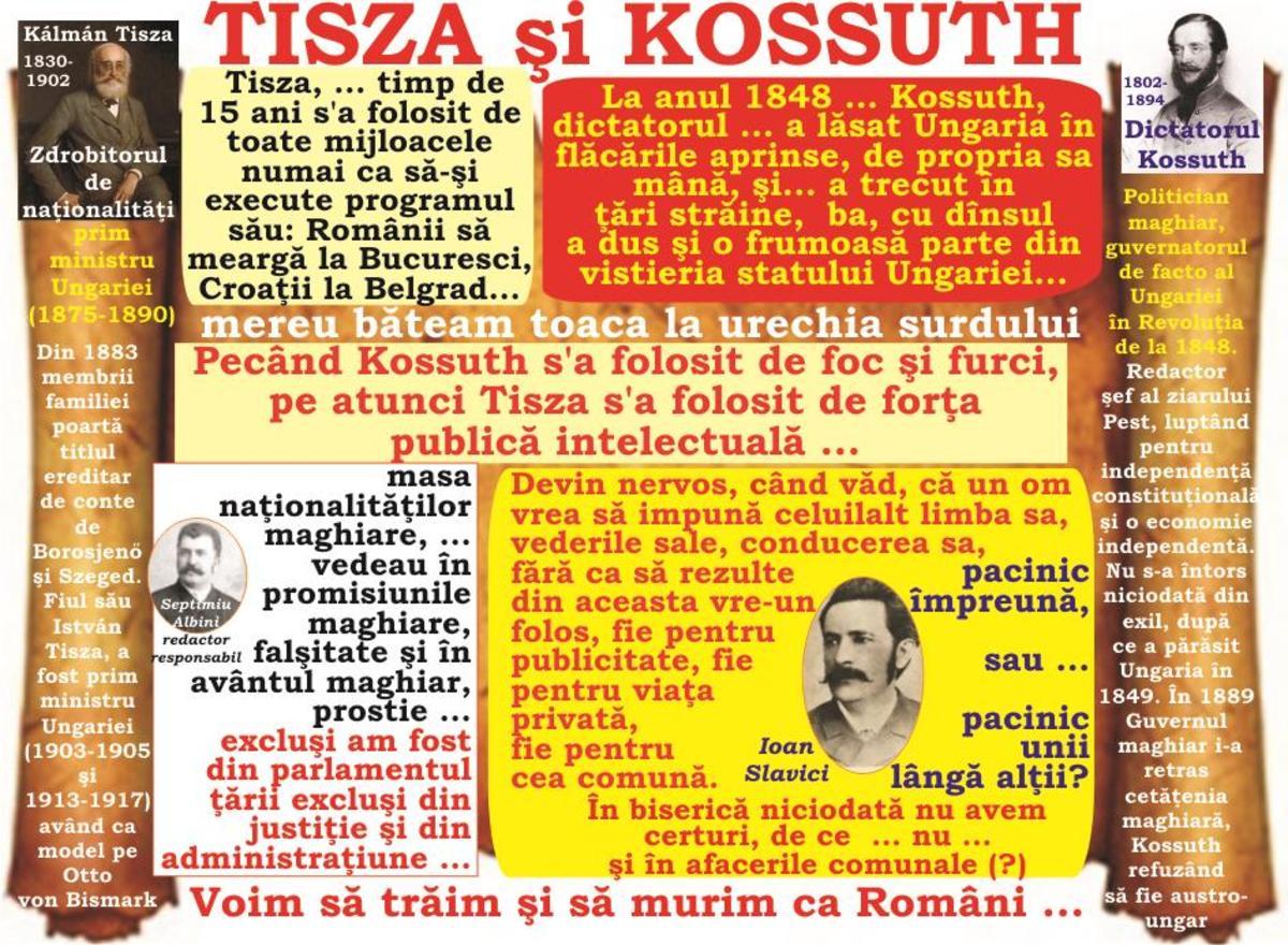 2017-Anul tribuniştilor memorandişti (XLII): Dictatorul Kossuth şi Tisza, zdrobitorul de naţionalităţi -  ... voim să trăim şi să murim ca Români şi numai ca Români!