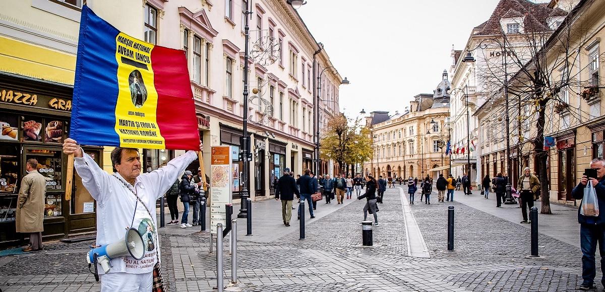 VIDEO. Protest inedit în centrul Sibiului: