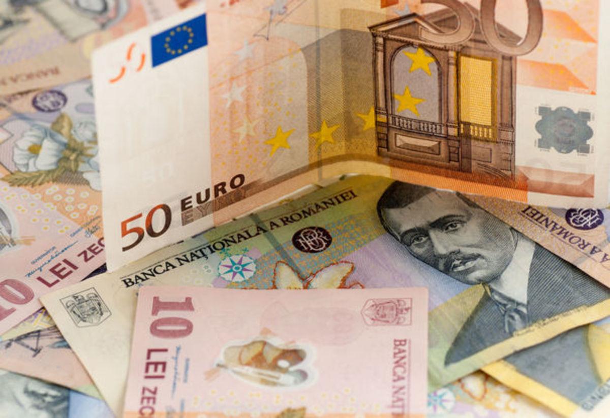 Euro pune leul cu botul pe labe: 4,6495!