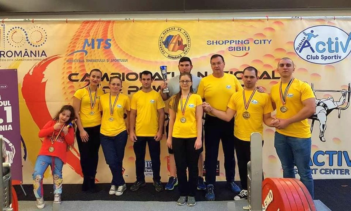 Sibienii de la Activ, patru titluri naționale la Campionatul Național de powerlifting