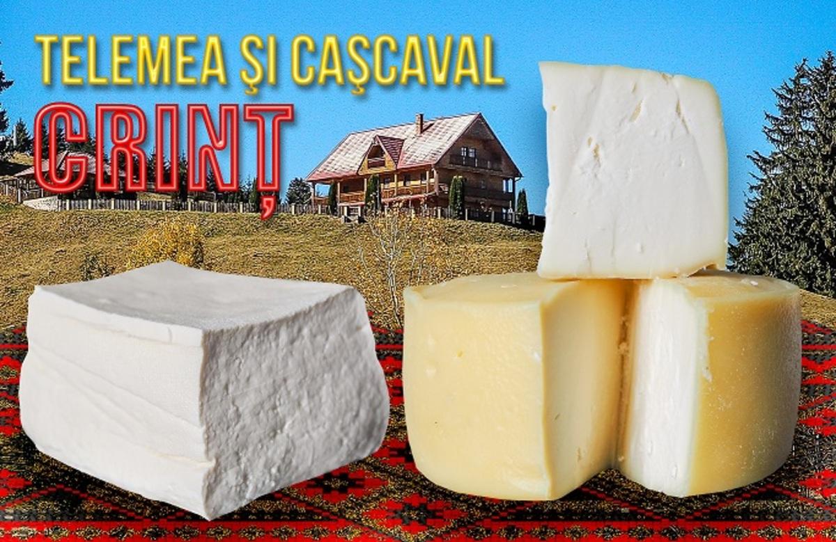 Fabrica de lactate SEVIŞ aduce noutăţi de 1 Decembrie: TELEMEA DE CASĂ CRINŢ şi caşcaval vrac CRINŢ