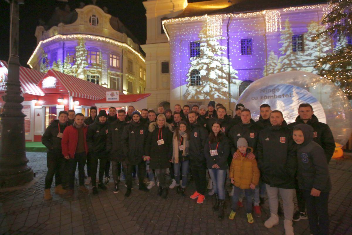FC Hermannstadt a fost la Căsuţa ShoeBox din Târgul de Crăciun