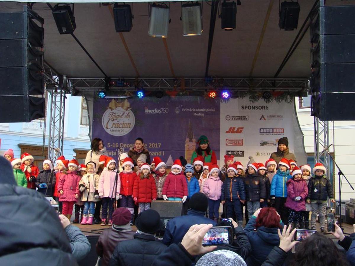 Concerte în ultima seară a Târgului de Crăciun din Mediaș