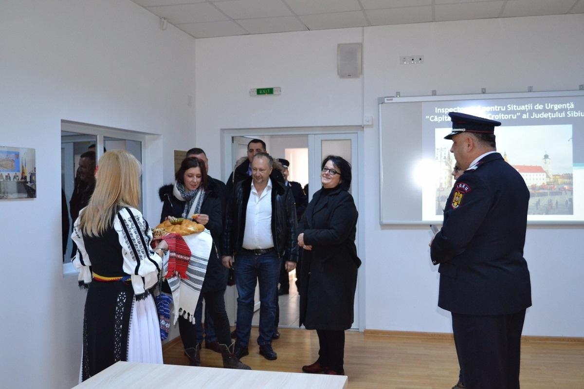 FOTO: Delegație din Bosnia și Herțegovina, în vizită de documentare la ISU Sibiu
