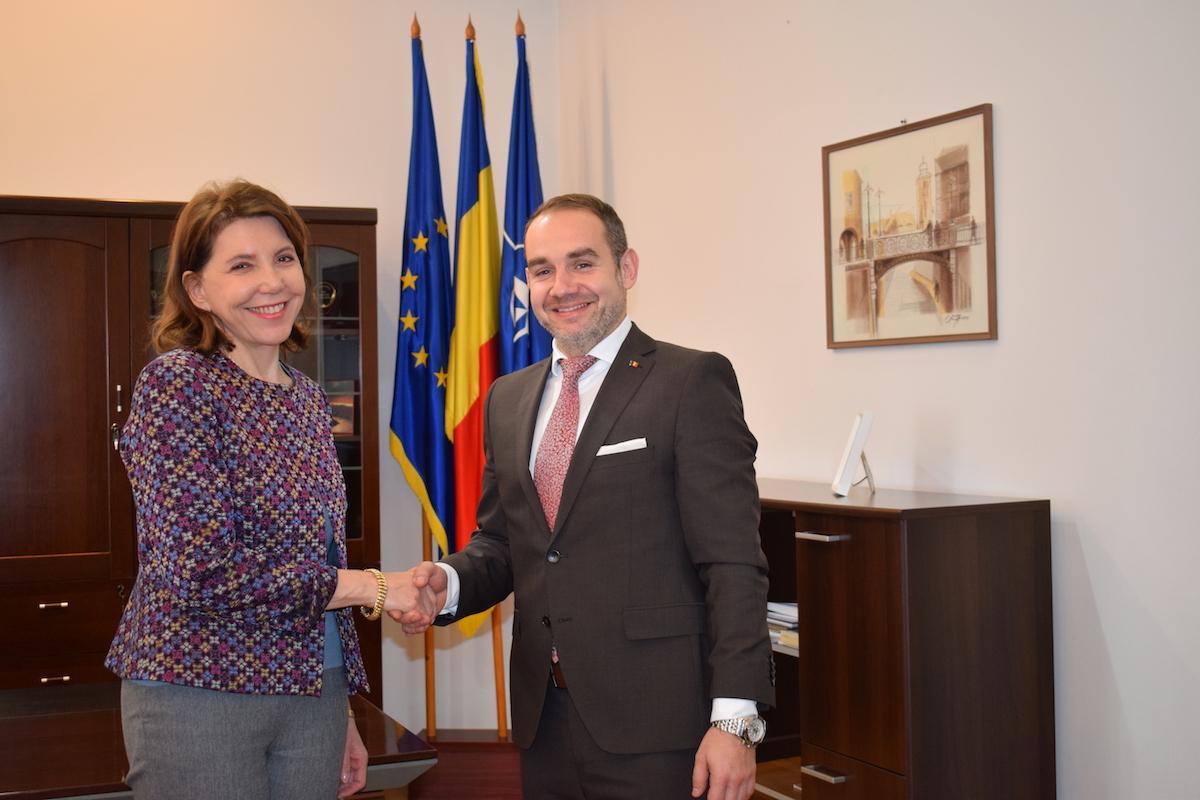 Ambasadorul Franței la București s-a întâlnit cu subprefectul Horațiu Marin