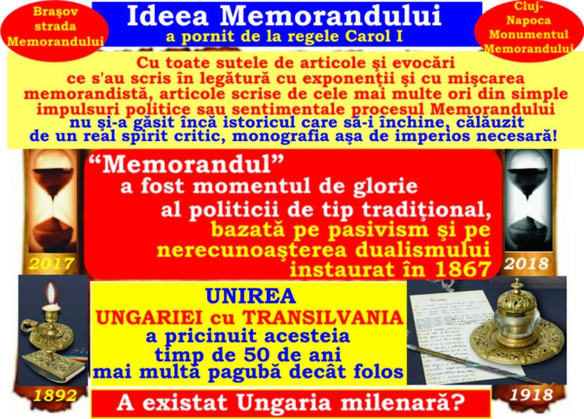 """A existat Ungaria milenară? Ideea Memorandului! Epoca """"Memorandului"""" şi a """"Replicei"""" a mobilizat tineretul şcolar"""