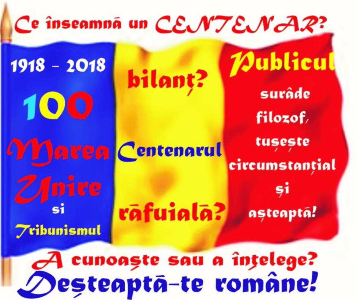 2018 - MAREA UNIRE şi Tribunismul (I):