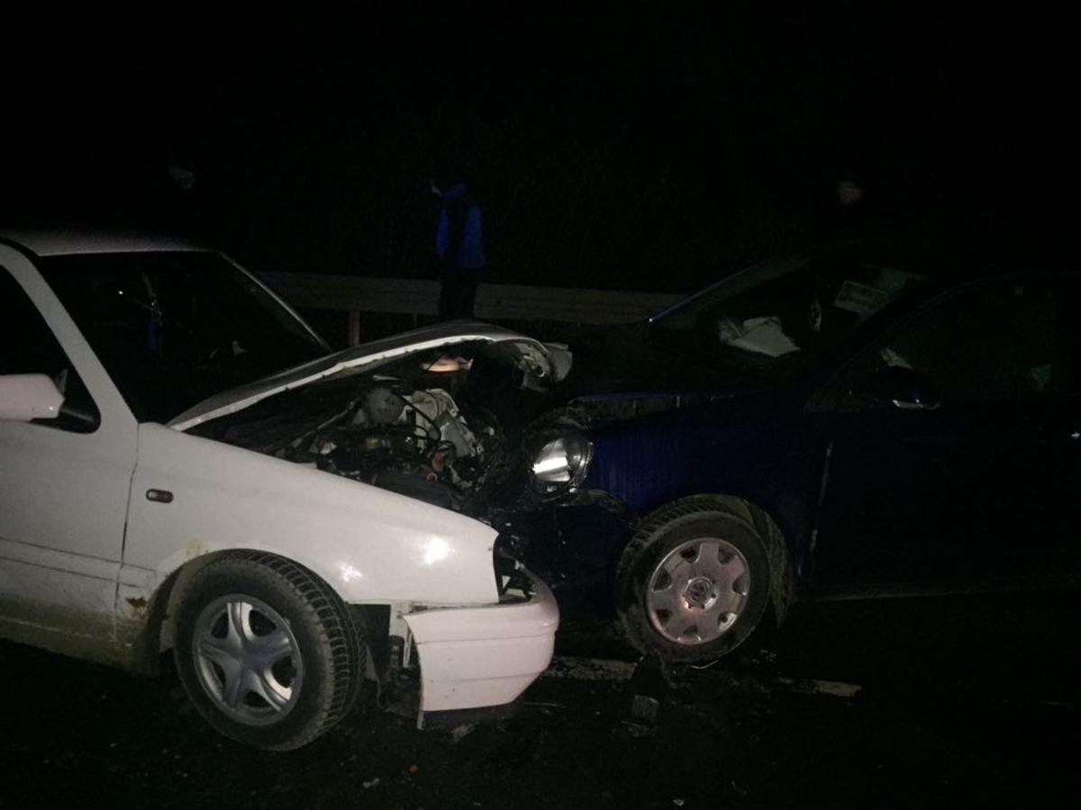 FOTO - Accident cu 3 mașini la intrarea în Mediaș. 3 persoane au ajuns la spital