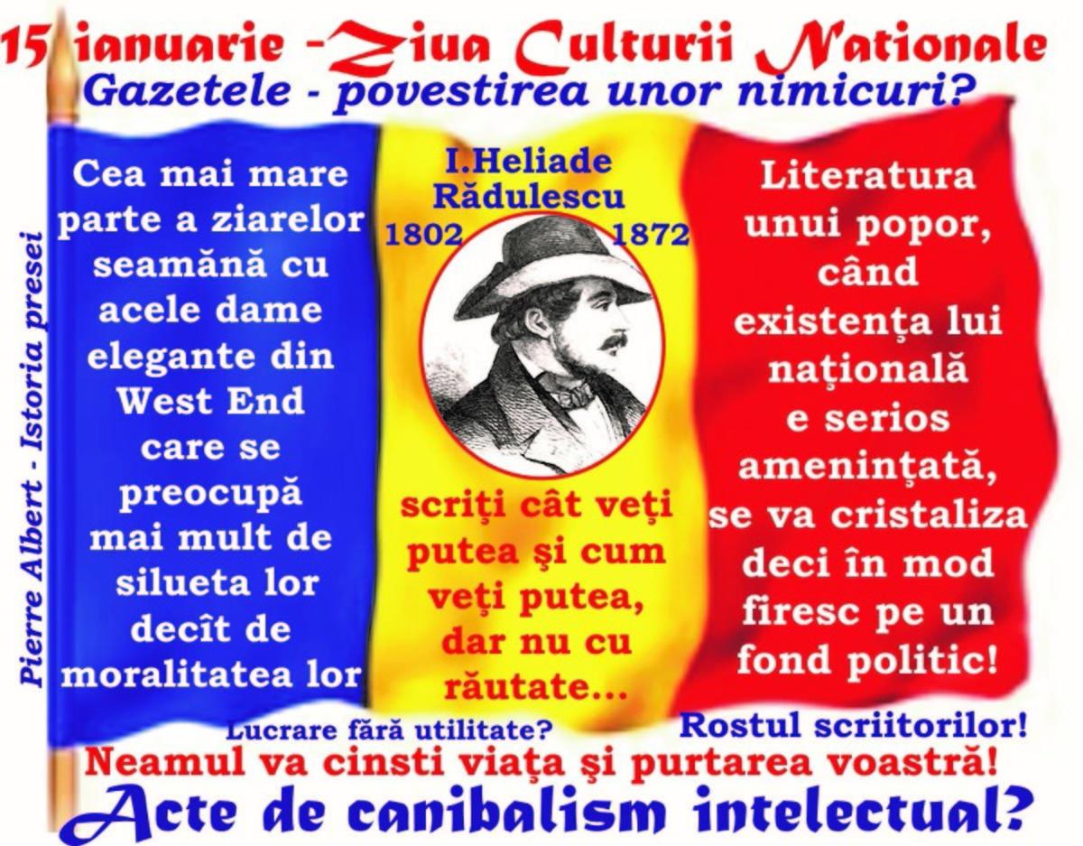 2018 - MAREA UNIRE şi Tribunismul (III): Publicaţiile ... hrana ignoranţilor? Dacă nu era Göthe, Germanii n'ar fi avut un Bismarck! Despre canibalismul intelectual!