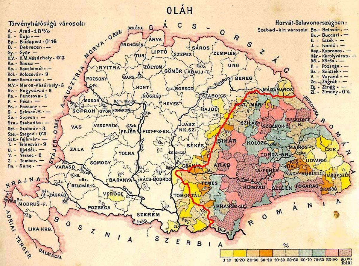 Harta Romaniei 1945