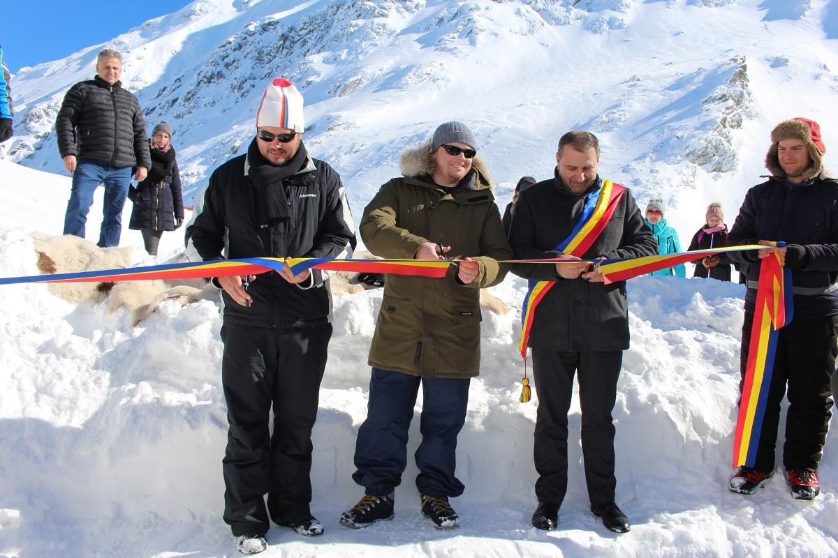 """FOTO: Ambasadorul Canadei, la Hotelul de Gheață de la Bâlea Lac: """"Am găsit aici o mică parte din țara mea"""""""