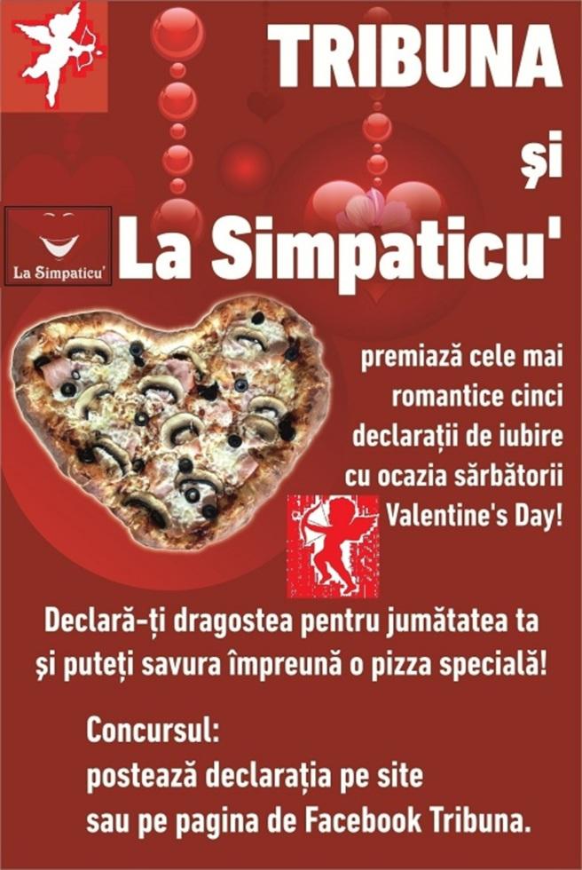 Declară-ți dragostea pentru jumătatea ta și puteți savura împreună o pizza specială!