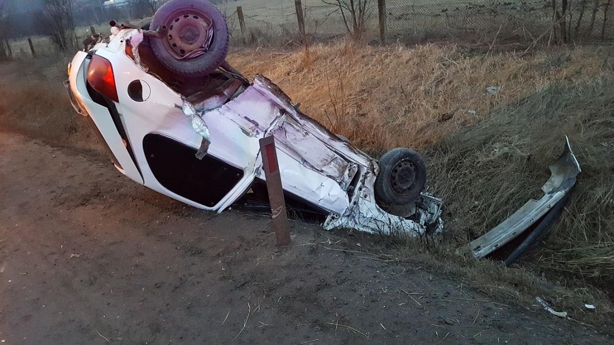 Doi sibieni, răniți într-un accident rutier la ieșirea din Sibiu spre Mediaș