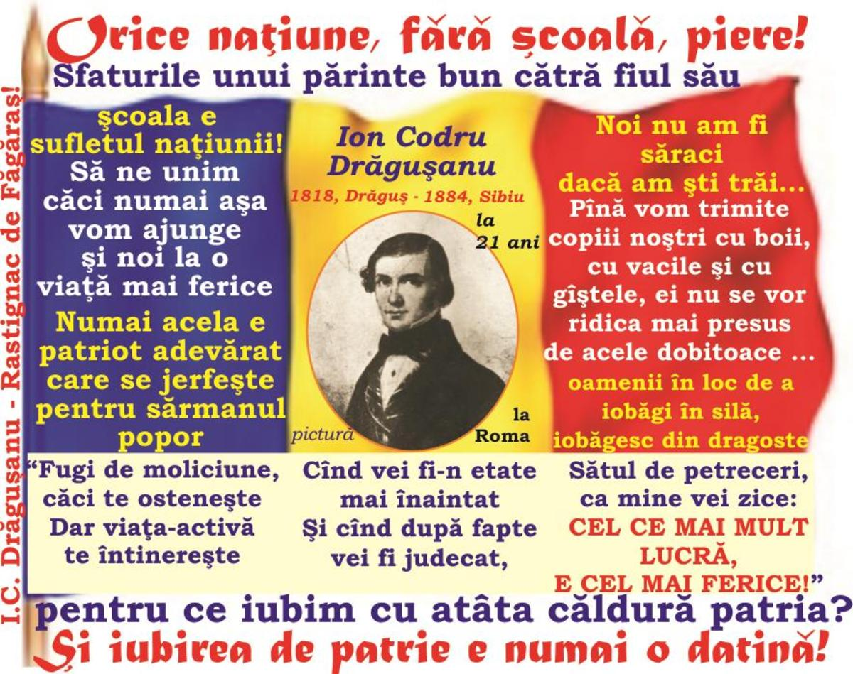 2018-MAREA UNIRE şi Tribunismul (VIII): Şcoala, sufletul naţiunii - Sfaturile unui părinte bun cătră fiul său - Nimeni nu se mai ruşinează a fi român!- Obiceiurile rele!