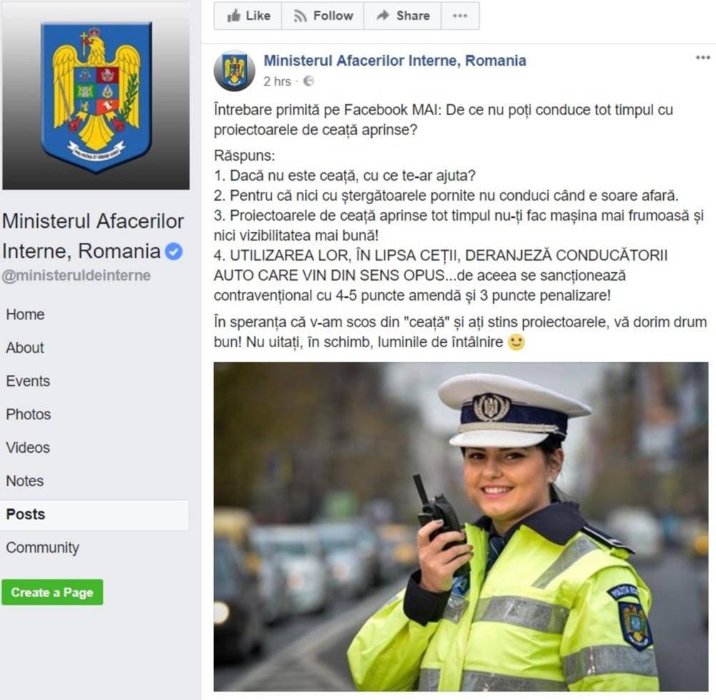 Cum ne MAI amuză Poliţia pe Facebook!