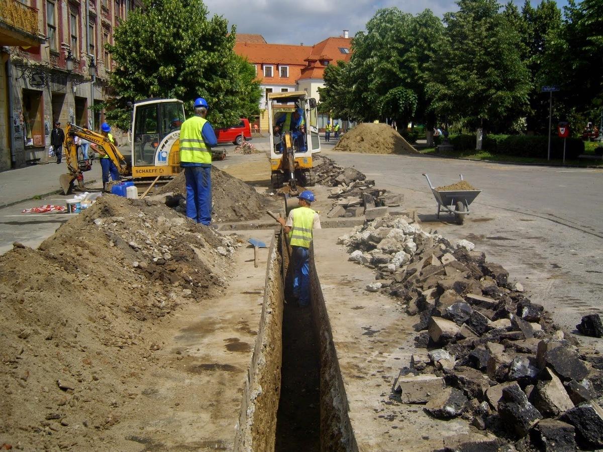 Investiții importante la apă și canalizare, într-un cartier din Mediaș