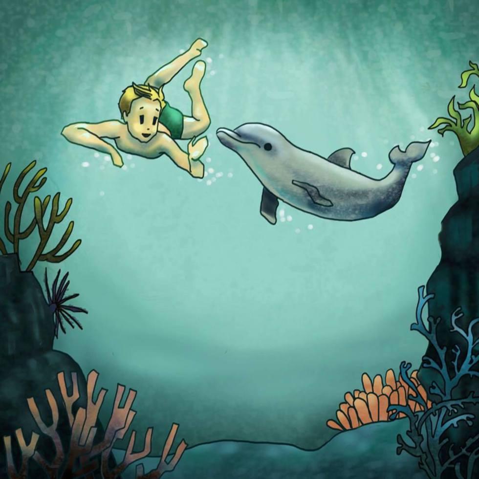 Copiii învață dintr-o carte să ocrotească animalele marine