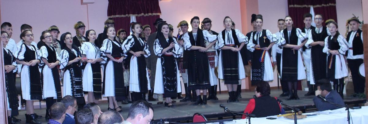 Spectacol folcloric în centrul Avrigului
