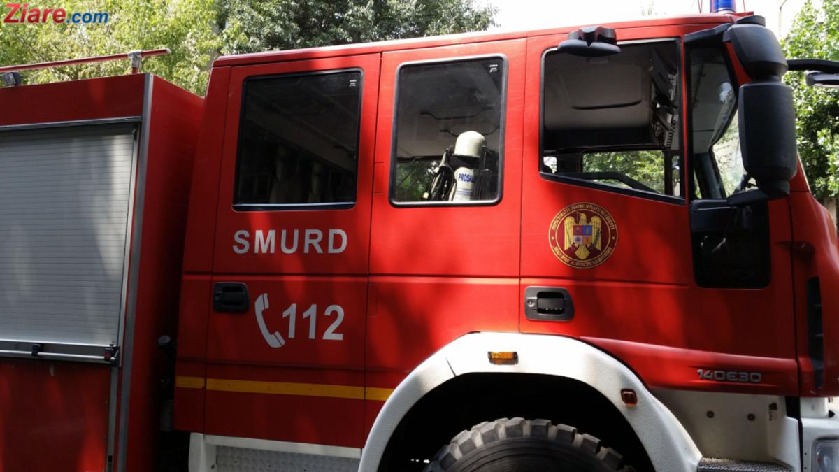 Incendiu la o camionetă, în Sibiu