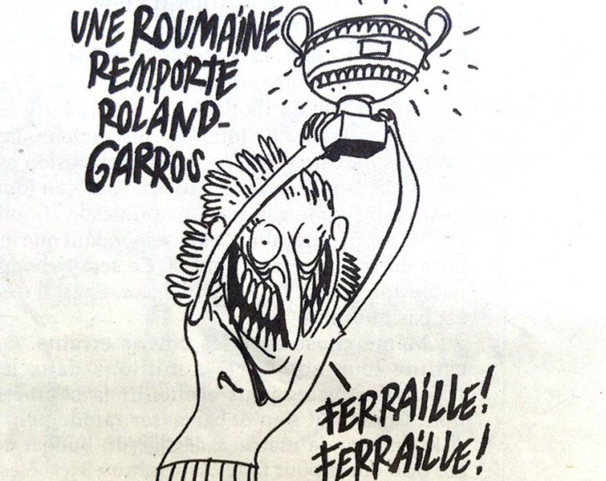 Mârlănie! Simona Halep, umilită de francezii de la Charlie Hebdo: