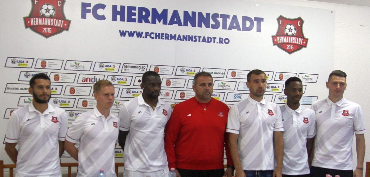 FC Hermannstadt și-a prezentat achizițiile. Mai vin încă 3 jucători!