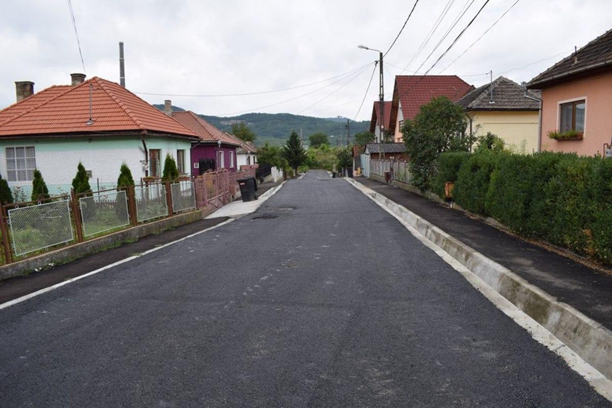 Strada Visei din Copșa Mică a fost asfaltată