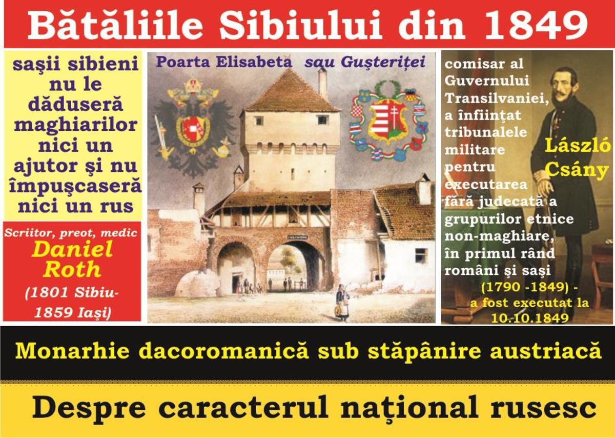 2018-MAREA UNIRE şi Tribunismul (XXX): A treia şi ultima bătălie de la Sibiu -  Caracterul naţional rusesc - Nu orice orăşel poate fi Paris - monarhia dacoromanică