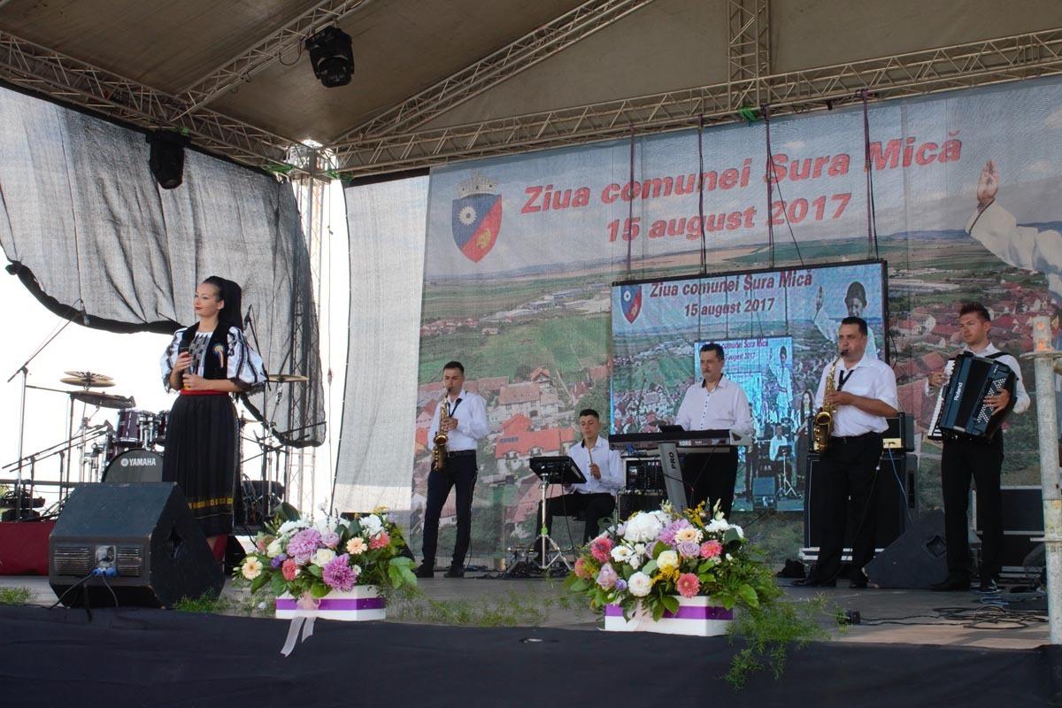 Lora, Ionuț Fulea și Junii Sibiului, la Ziua comunei Șura Mică, de Sfânta Maria