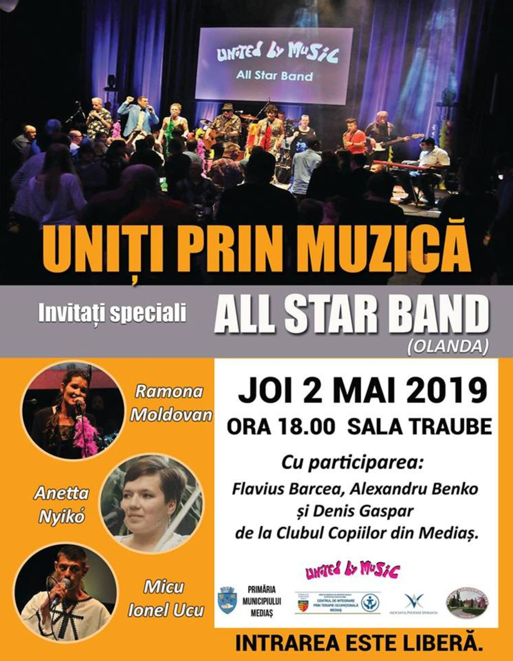 All Star Band concertează în 2 mai la Mediaș